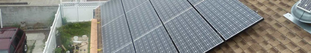 Solar Panels on Shingle on NYC home