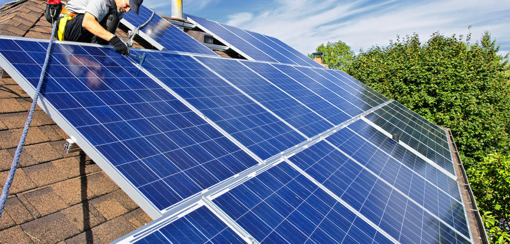 Long Island Solar Contractor installing panels